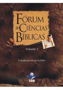 (eBook) FÓRUM DE CIÊNCIAS BÍBLICAS - VOLUME 3