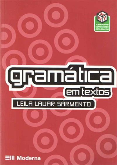 LIVRO GRAMATICA EM TEXTOS: VOLUME UNICO