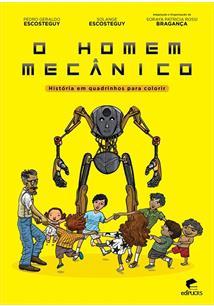 o homem mecanico historia em quadrinhos para colorir pedro