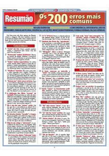 RESUMAO: OS 200 ERROS MAIS COMUNS