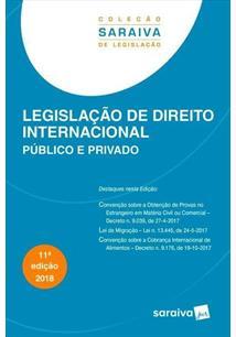 LEGISLAÇAO DE DIREITO INTERNACIONAL: PUBLICO E PRIVADO