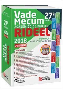 LIVRO VADE MECUM ACADEMICO DE DIREITO 27ª EDIÇAO 2018 - 27ªED.(2018)